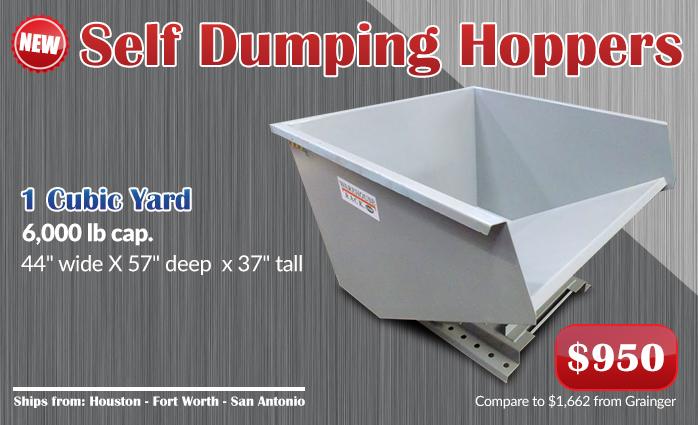 New Self Dumping Hoppers Warehouse Rack Company Inc