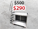 ALUMINUM LADDER STOCK CART