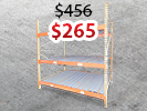 PALLET RACK WITH CORRUGATED DECKING