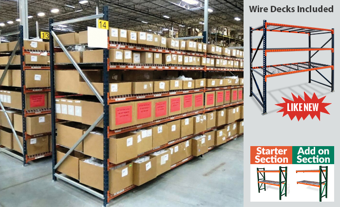 Wire Decking For Racks | Used With Wire Decking Warehouse Rack Company Inc