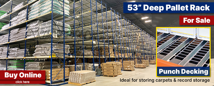 "53"" Pallet Rack with Punch Decking"