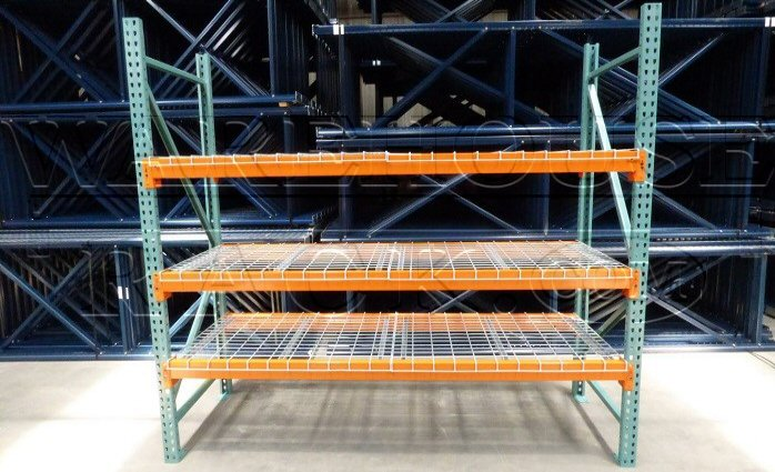 Wire Decking For Pallet Racks | Used Short Pallet Rack With Wire Decking Warehouse Rack Company Inc