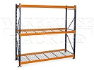 SHORT PALLET RACK WITH WIRE DECKING