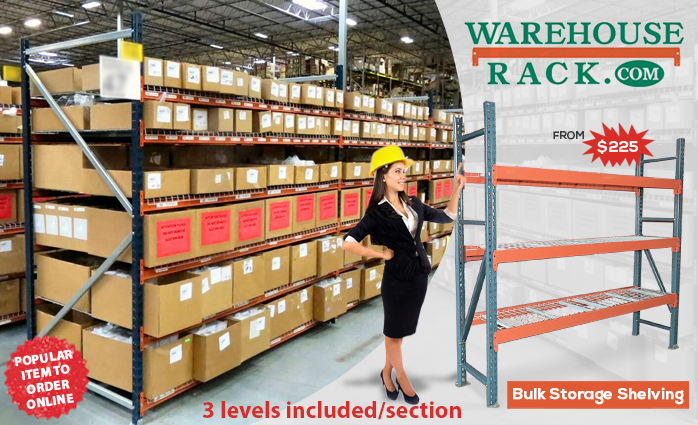 Bulk Storage Shelving Is Designed For Areas In Which Goods Are Handled  Manually Instead Of Being Transported On A Pallet.