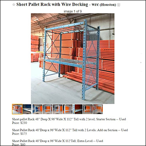 Craigslist : Warehouse Rack Company, Inc.